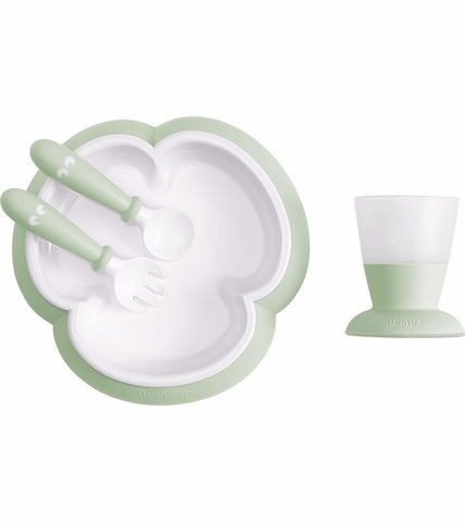 Baby Bjorn Baby Feeding Set - Powder Green - Traveling Tikes