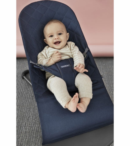 Baby Bjorn Bouncer Bliss - Midnight Blue, Cotton - Traveling Tikes