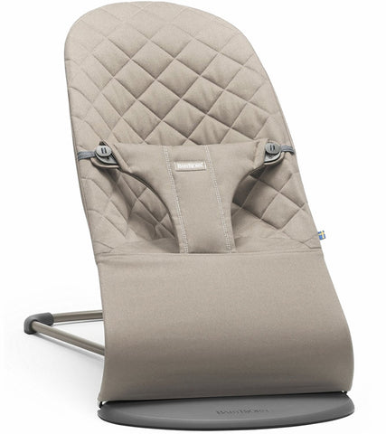 Baby Bjorn Bouncer Bliss - Sand Gray, Cotton - Traveling Tikes