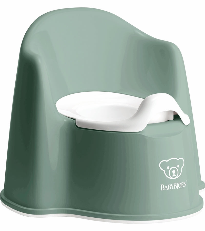 Baby Bjorn Potty Chair - Deep Green/White