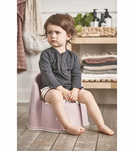 Baby Bjorn Potty Chair - Powder Pink/White