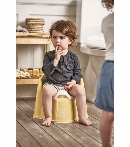 Baby Bjorn Potty Chair - Powder Yellow/White