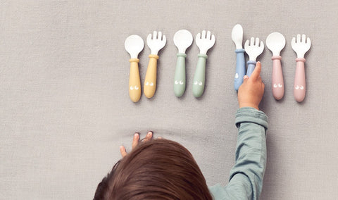 Baby Bjorn Baby Spoon and Fork, 4 pcs - Powder Blue - Traveling Tikes