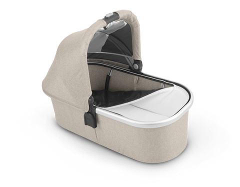 UPPAbaby 2021 Bassinet - Decland (Oat Melange/Silver/Brown Leather)