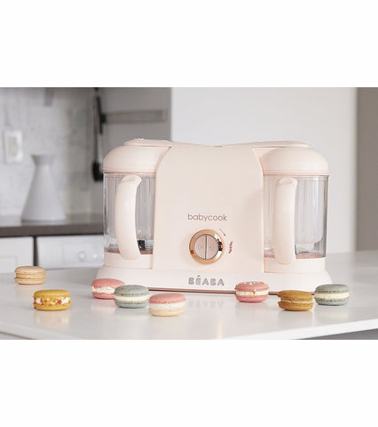 Beaba Babycook Plus Baby Food Blender - Rose Gold - Traveling Tikes
