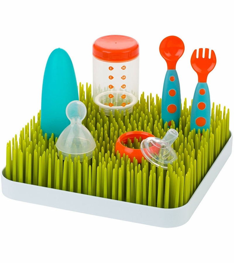 Boon Grass Countertop Drying Rack-Green - Traveling Tikes