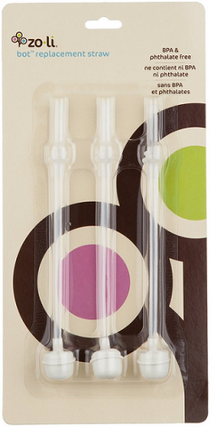 Zoli Bot Replacement Straws - 3 Pack