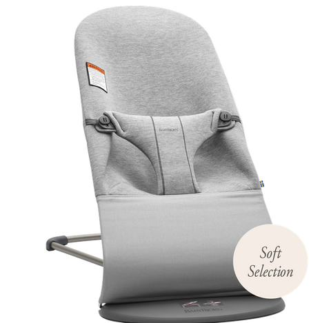 Baby Bjorn Bouncer Bliss - Soft Selection - Light Gray 3D Jersey - Traveling Tikes