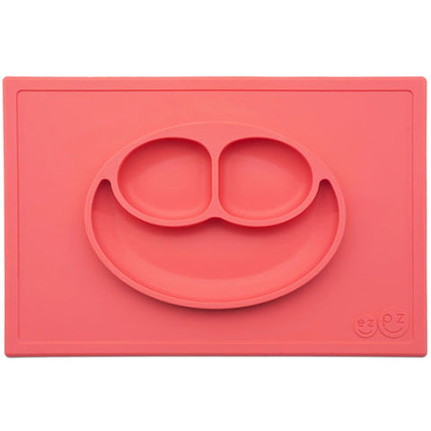 EZPZ Happy Mat Placemat & Plate - Coral