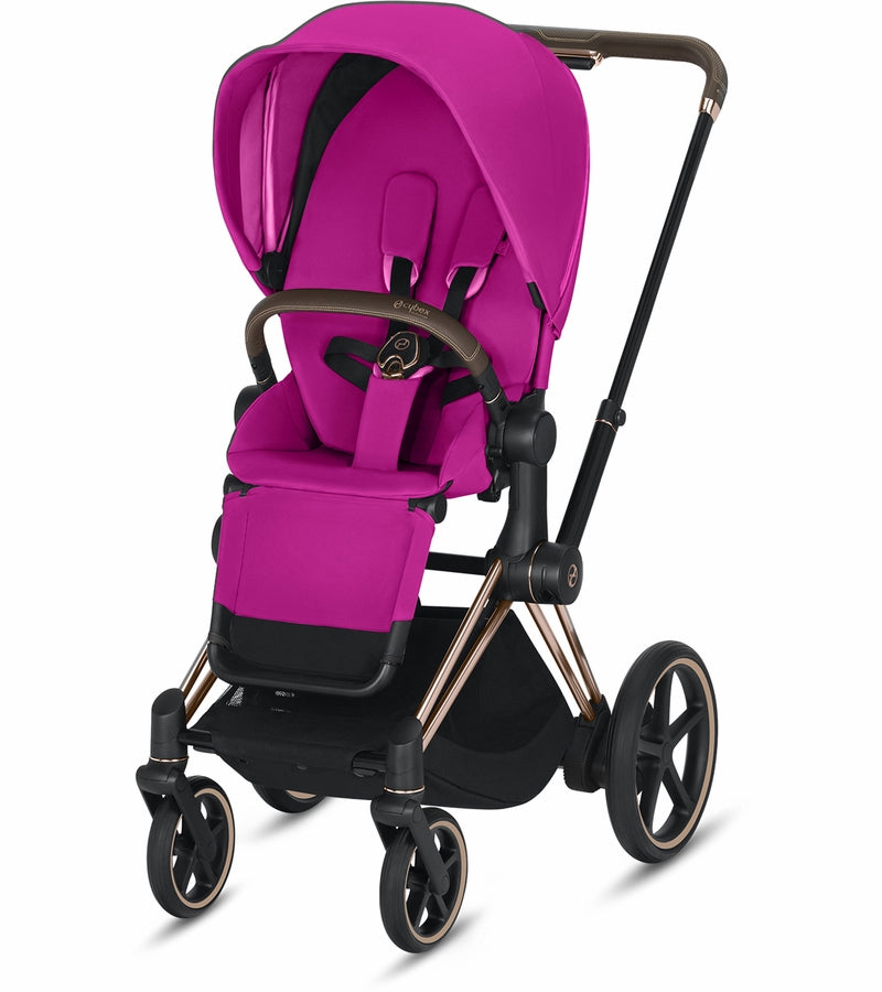 Cybex ePriam Stroller - Rose Gold/Fancy Pink