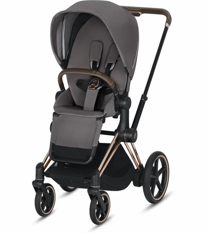 Cybex ePriam Stroller - Rose Gold/Manhattan Grey