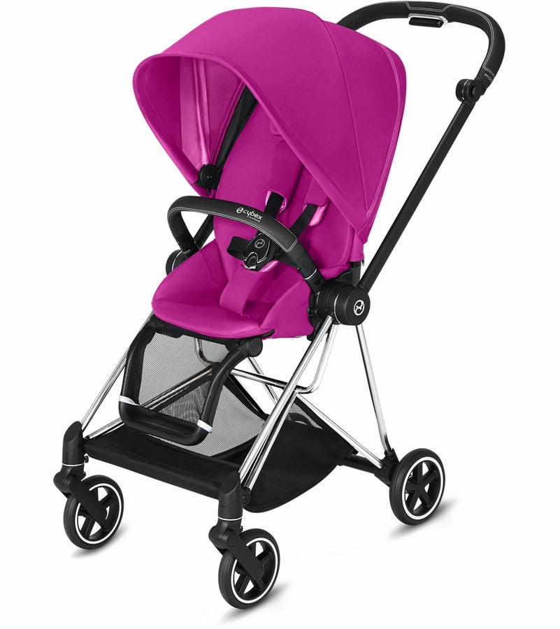 Cybex Mios Complete Stroller - Chrome/Black/Fancy Pink