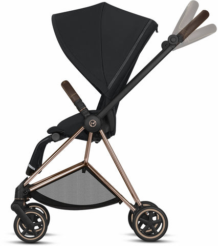 Cybex Mios 2 Complete Stroller - Chrome/Black/Manhattan Grey