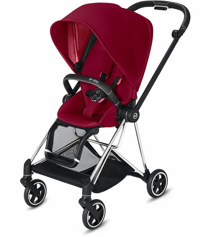 Cybex Mios 2 Complete Stroller - Chrome/Black/True Red