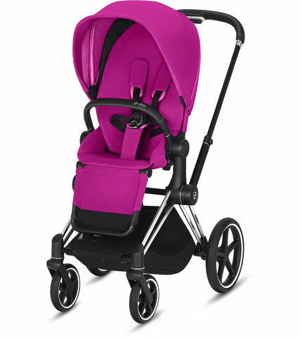 Cybex 2019 Priam Complete Stroller - Chrome/Black/Fancy Pink
