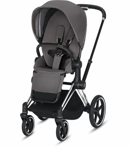 Cybex 2019 Priam Complete Stroller - Chrome/Black/Manhattan Grey
