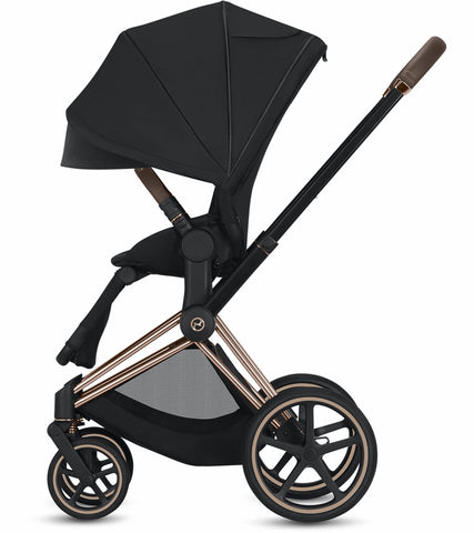 Cybex 2019 Priam Complete Stroller - Chrome/Black/Indigo Blue
