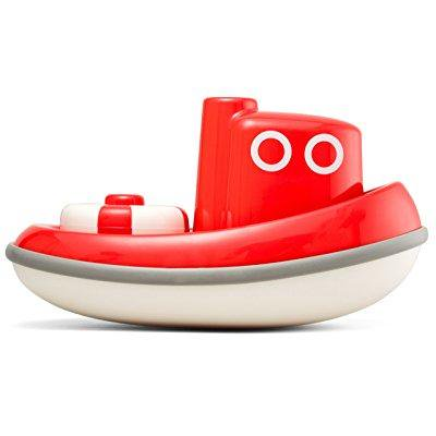 Kido Floating Tug Boat Toddler Bath Toy - Red