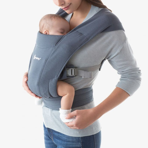 Ergobaby Embrace Cozy Newborn Carrier Oxford Blue