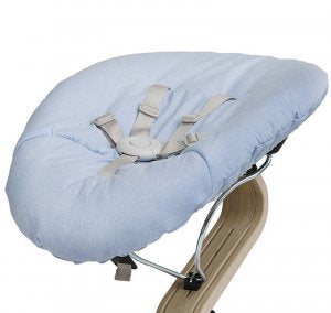 Nomi Baby Base 2.0 - Black with Blue Cushion