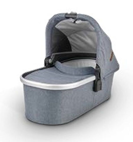 UPPAbaby 2020 Bassinet - Gregory (Blue Melange/Silver/Saddle Leather)