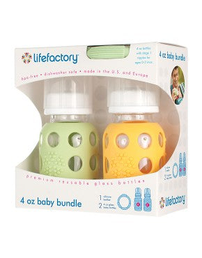 Life Factory 4 oz Baby Bundle (spring green/yellow)