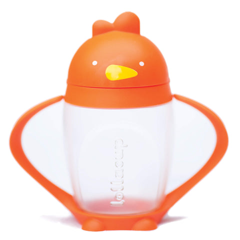 Lollaland Lollacup Infant & Toddler Straw Cup - Orange