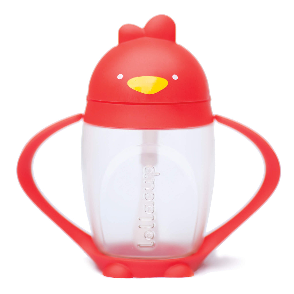 Lollaland Lollacup Infant & Toddler Straw Cup - Red