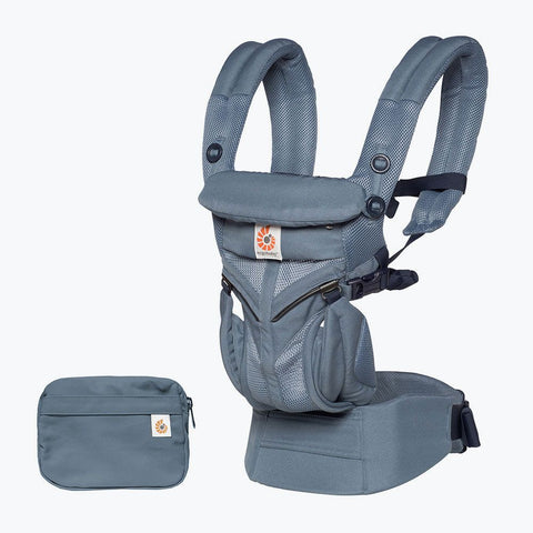 ErgoBaby 4 Position 360 Cool Air Carrier-Oxford Blue