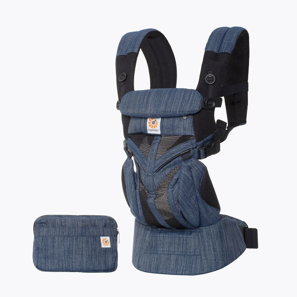 ErgoBaby 4 Position 360 Cool Air Carrier-Indigo Weave
