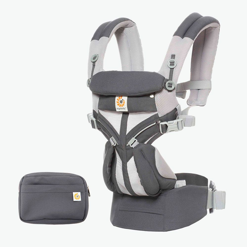 ErgoBaby 4 Position 360 Cool Air Carrier-Carbon Grey