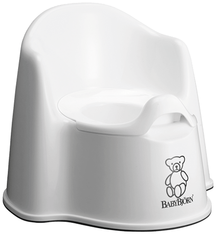 Baby Bjorn Potty Chair - White - Traveling Tikes