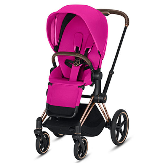 Cybex Priam Stroller - Rose Gold/Fancy Pink