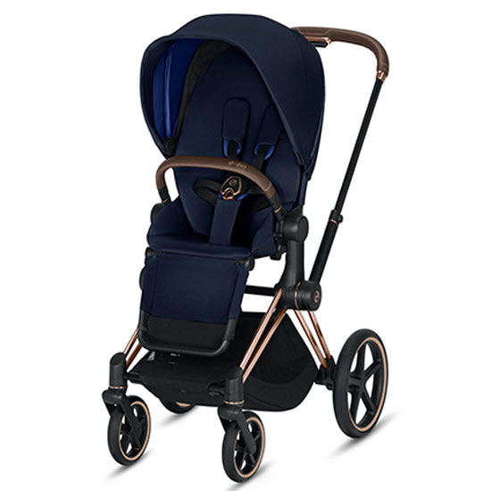 Cybex Priam Complete Stroller - Rose Gold/Indigo Blue
