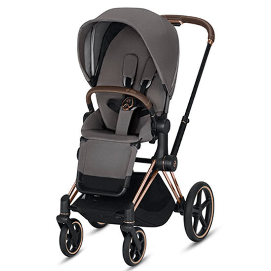 Cybex 2019 Priam Complete Stroller - Rose Gold/Manhattan Grey