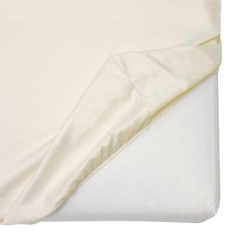 Naturepedic Organic Cotton Sateen Crib Sheet - Ivory