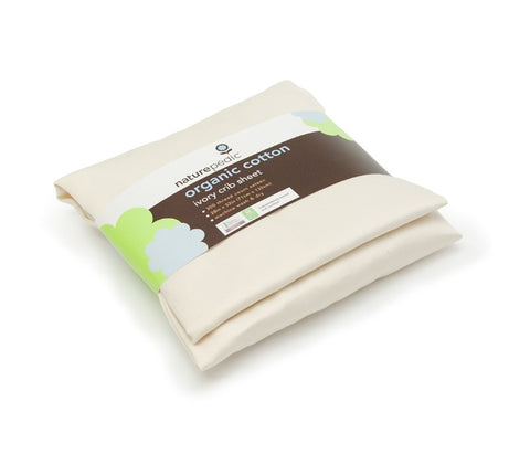 Naturepedic Organic Cotton Sateen Crib Sheets 3 Pack - Ivory