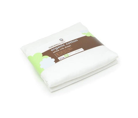 Naturepedic Organic Cotton Sateen Crib Sheets 3 Pack - White
