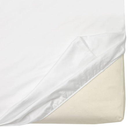 Naturepedic Organic Cotton Sateen Crib Sheet - White