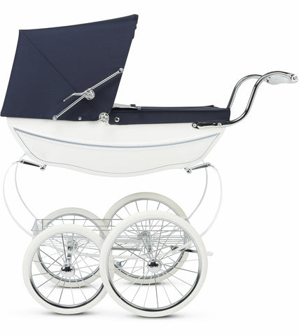 Silver Cross Doll Stroller - White/Navy