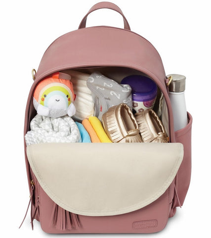 Skip Hop Greenwich Simply Chic Backpack Diaper Bag - Dusty Rose