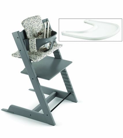 Stokke 2019 / 2020 Tripp Trapp Complete High Chair - Storm Grey/Garden Bunny