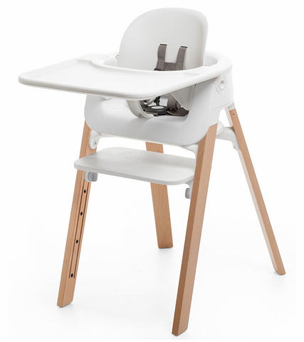 Stokke Steps Complete High Chair - White/Natural