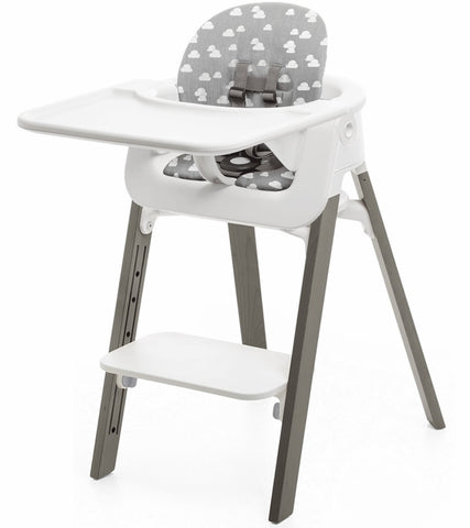 Stokke Steps High Complete Chair-Hazy Grey/Grey Clouds