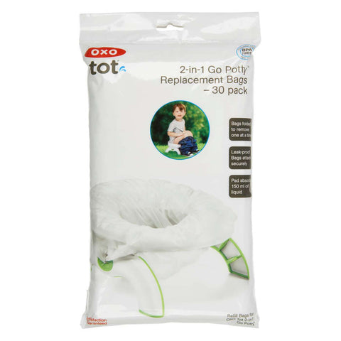 Oxo Tot Tot 2-In-1 Go Potty Refill Bags - 30 Pack