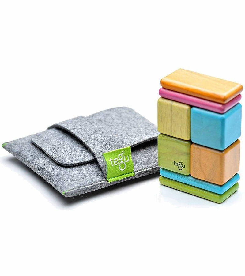Tegu Pocket Pouch 8 Piece Magnetics Blocks - Tegu Tints
