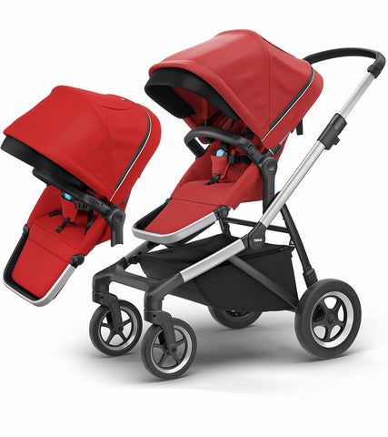 Thule Sleek Double Stroller - Energy Red