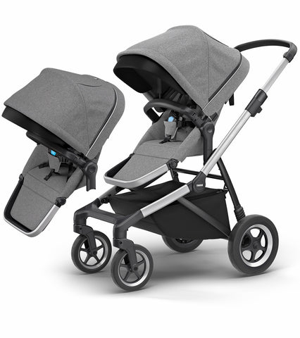 Thule Sleek Double Stroller - Grey Melange