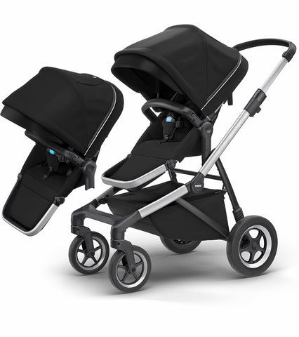 Thule Sleek Double Stroller - Midnight Black