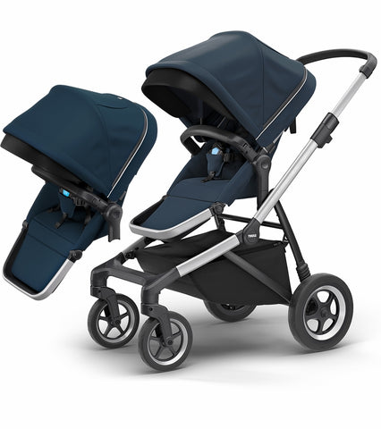 Thule Sleek Double Stroller - Navy Blue